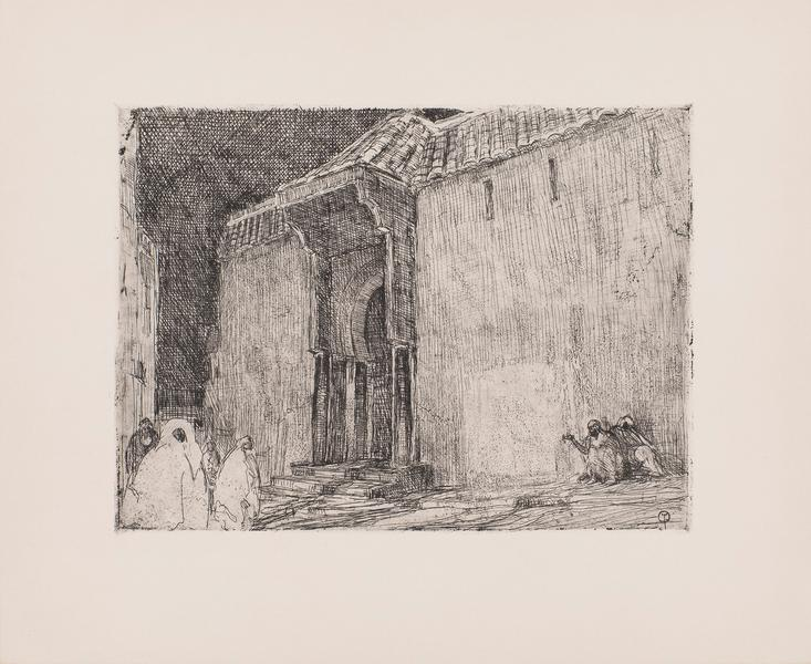 "Mosque, Tangier, c.1910 etching on paper 10 7/8"" x..."