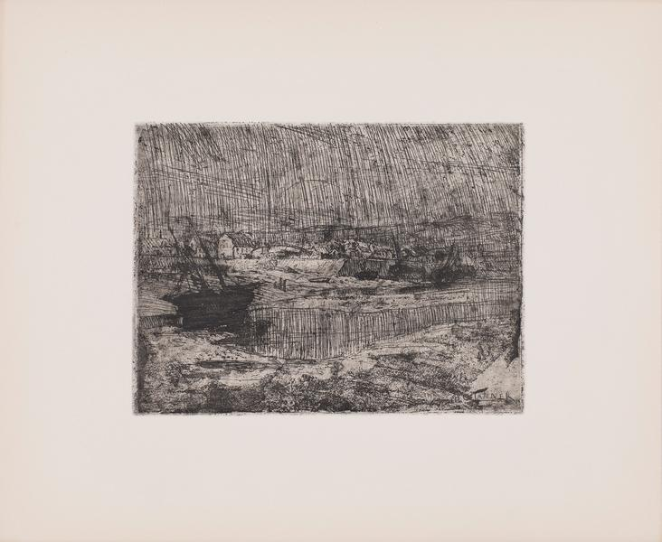 "The Wreck, c.1913 etching on paper 10 7/8"" x 13 1/..."
