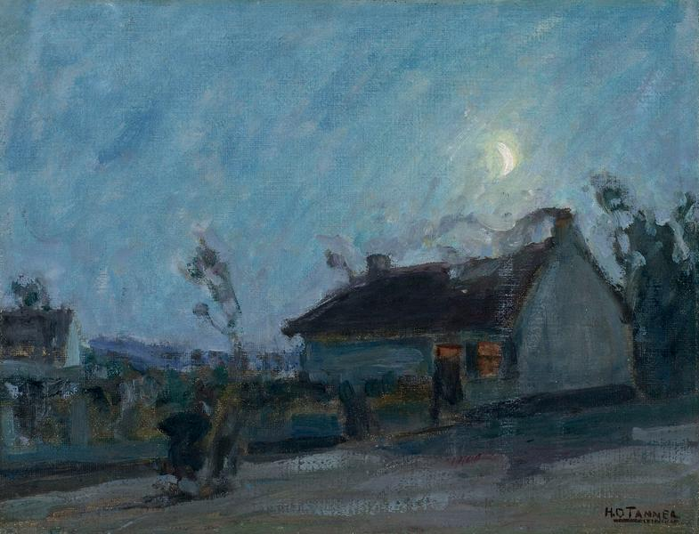 Untitled (Moonlit Landscape with Cottage), c.1912...