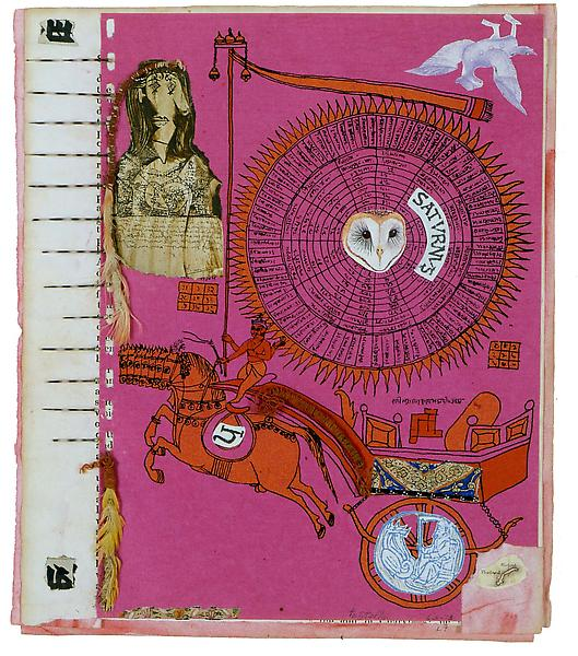 Untitled, 1973 collage including various papers, f...