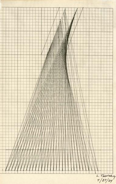 "Untitled, 1964 ink on paper 7 3/4"" x 4 7/8"", signe..."