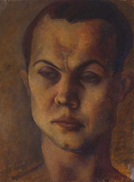 "Portrait of a Man, c.1929 oil on canvas 24"" x..."