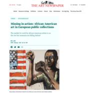 The Art Newspaper, January 10, 2019