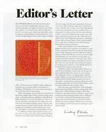 Art in America, Editor's Letter