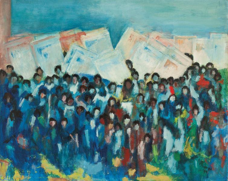 March on Washington, 1964 acrylic on canvas 31 x 3...