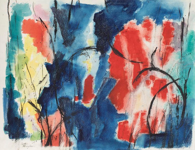Alma Thomas (1891-1978) Untitled, 1962 acrylic on...