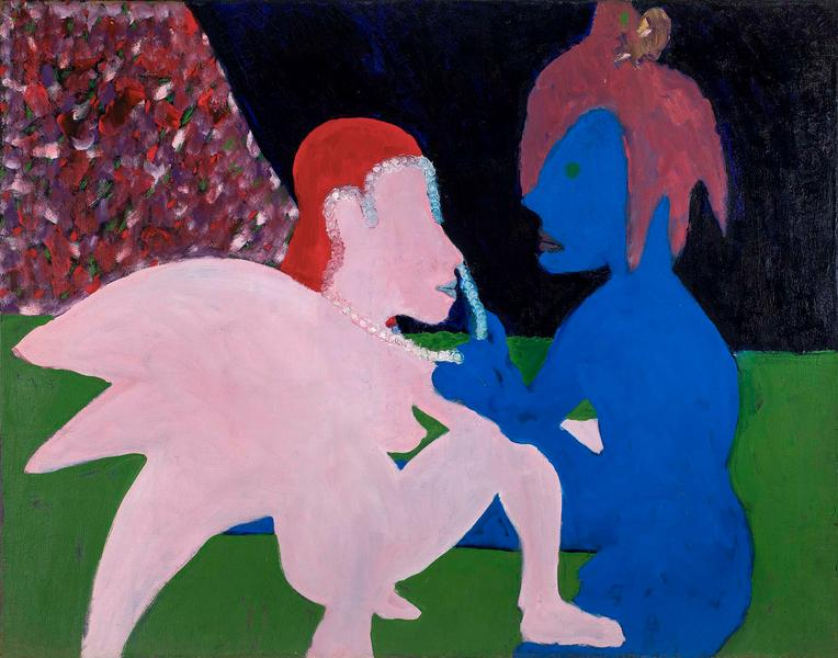 Bob Thompson (1937-1966) Adoration (Pink and Blue...