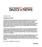 New York Daily News, November 11, 2005
