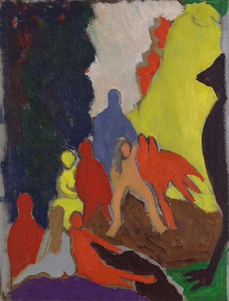 Bob Thompson (1937-1966) The Ascension, 1963 oil o...