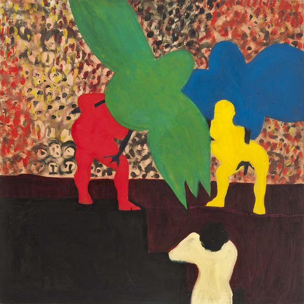 "The Circus, 1963 oil on canvas 36 3/8"" x 36 3/8"",..."