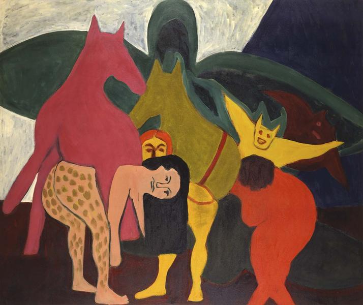 Bob Thompson (1937-1966) The Golden Ass, 1963 oil...