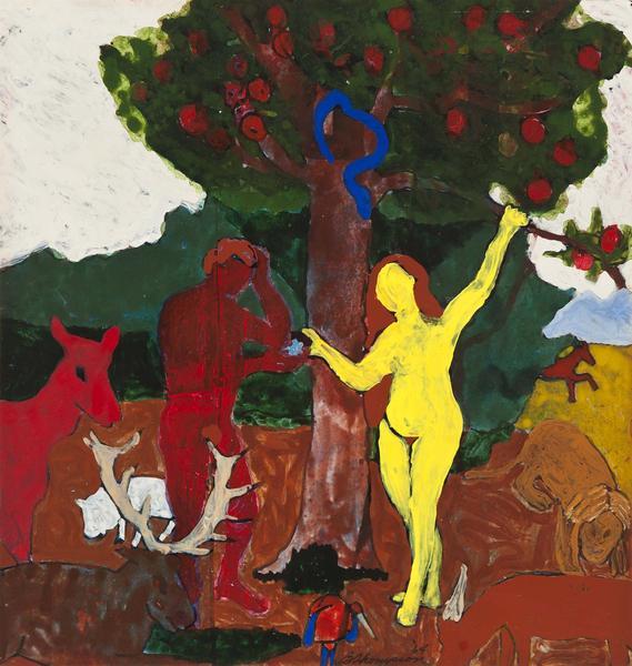 Bob Thompson (1937-1966) Adam and Eve, 1964 gouach...