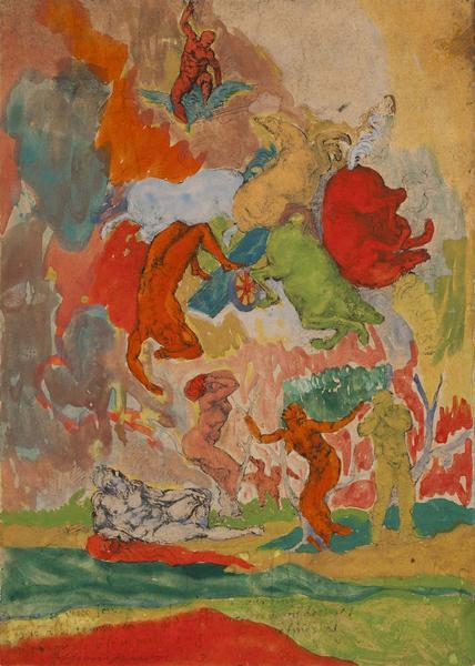 Bob Thompson (1937-1966) Untitled (Michelangelo&#3...