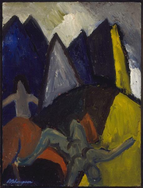 Bob Thompson (1937-1966) Untitled (Mountains), 195...