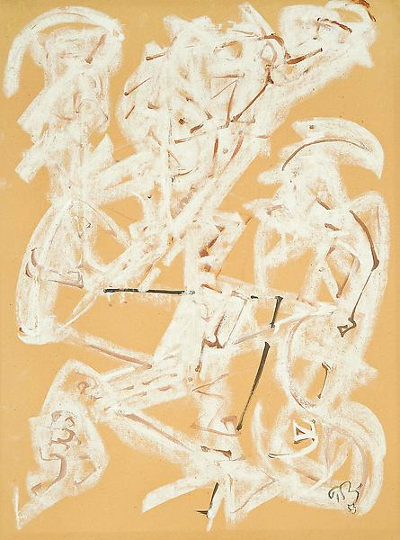 Untitled, 1953 chalk, crayon and gouache on paper...