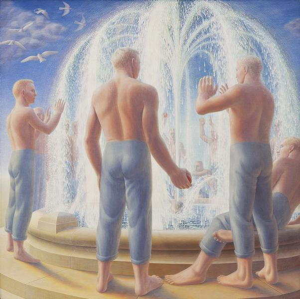 George Tooker (1920-2011) Fountain, 1950 egg tempe...