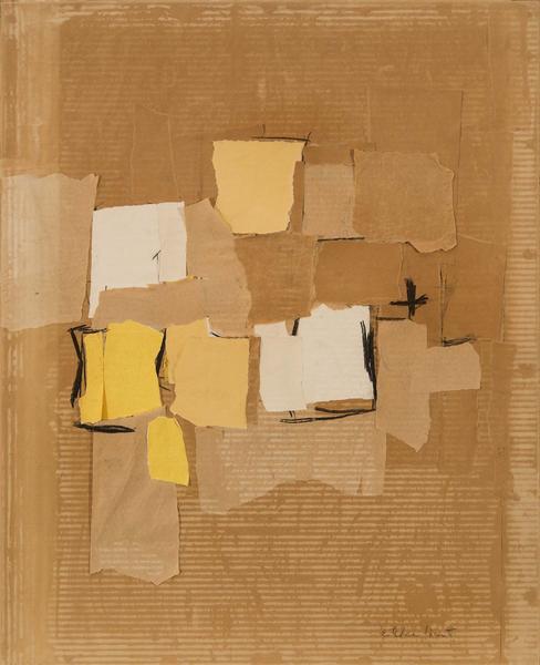 Esteban Vicente (1903-2001) Untitled, 1957 collage...