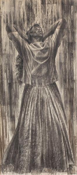Charles White (1918-1979) Juba, 1962 Wolff crayon...