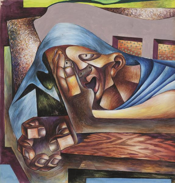 Untitled, c.1942 tempera on Abacco illustration bo...
