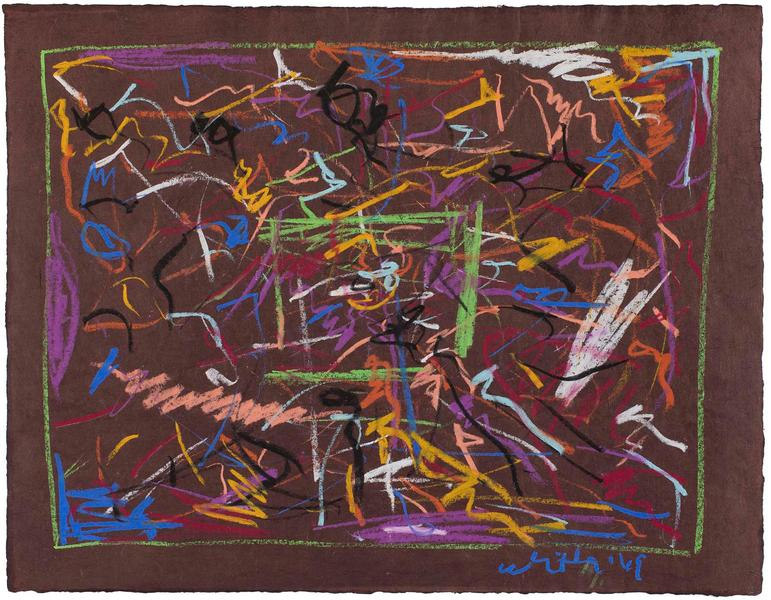 Jack Whitten (1939-2018) Untitled, 1969 pastel on...