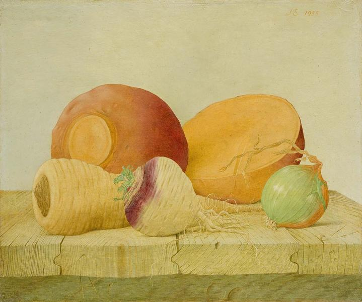 "Poor Man's Fruit, 1955 oil on canvas 10"" x 12""..."
