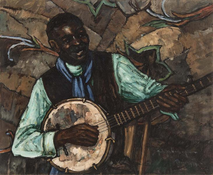 Hale Woodruff (1900-1980) The Banjo Player, 1929 o...