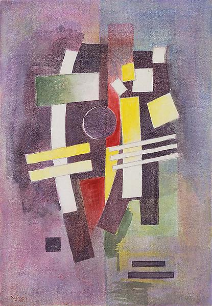 "Untitled, 1945 watercolor on paper 10 3/4"" x 7 1/2..."