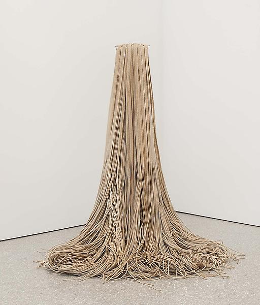 "Spill, c.1985 jute with metal base 45"" x 42"" x 42&..."