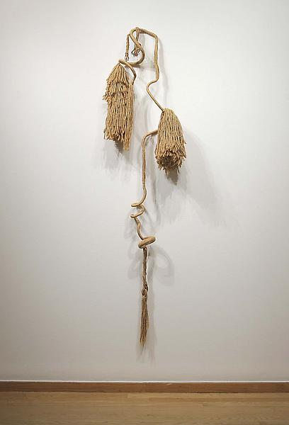 "Untitled, c.1968 jute with metal armature 70"" x 18..."