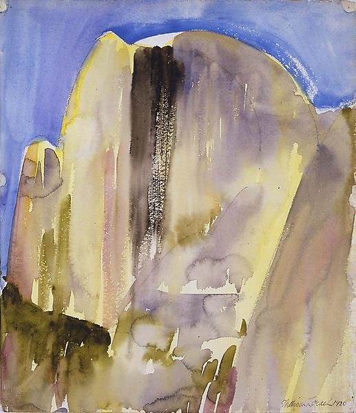 Half Dome, Yosemite, 1920 watercolor and pencil on...