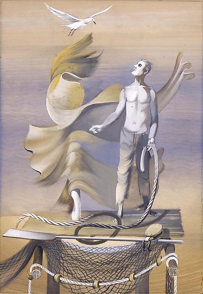 Untitled (Self-Portrait as Mariner), c.1941 [mural...