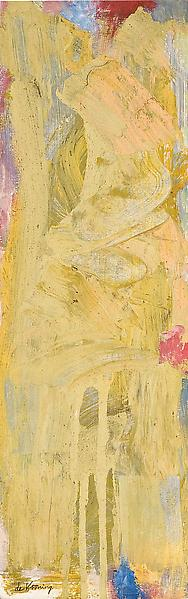 """Woman Walking, c.1964 oil on foamcore 18 5/8""""..."""
