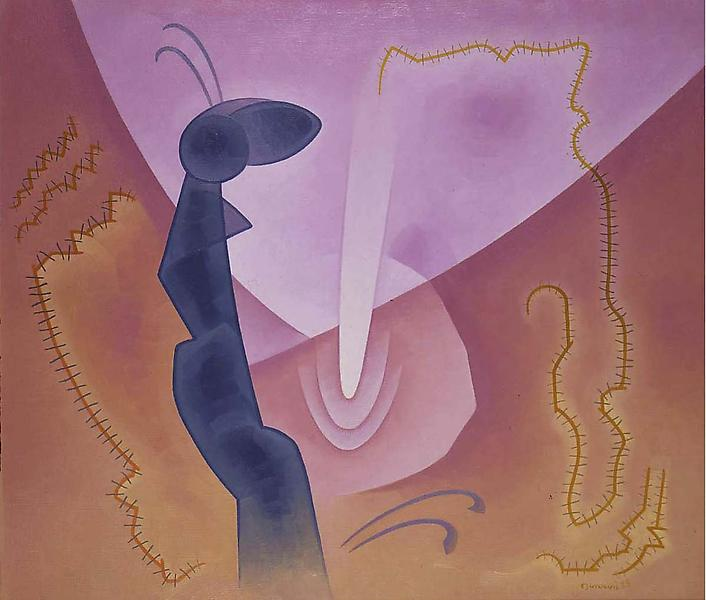 Chromatic Contrasts No. 2, 1935 oil on canvas 29&q...