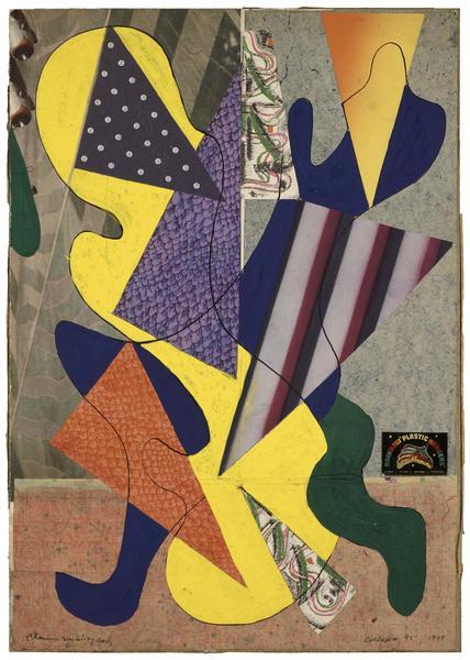 Charmion von Wiegand (1896-1983) Collage #95, 1949...